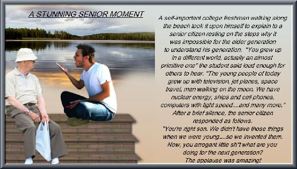 A stunning senior moment.